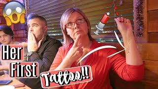 MOM GETS A TATTOO FOR 50TH BIRTHDAY!