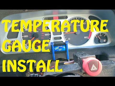 HOW TO: Budget inlet temperature gauge install