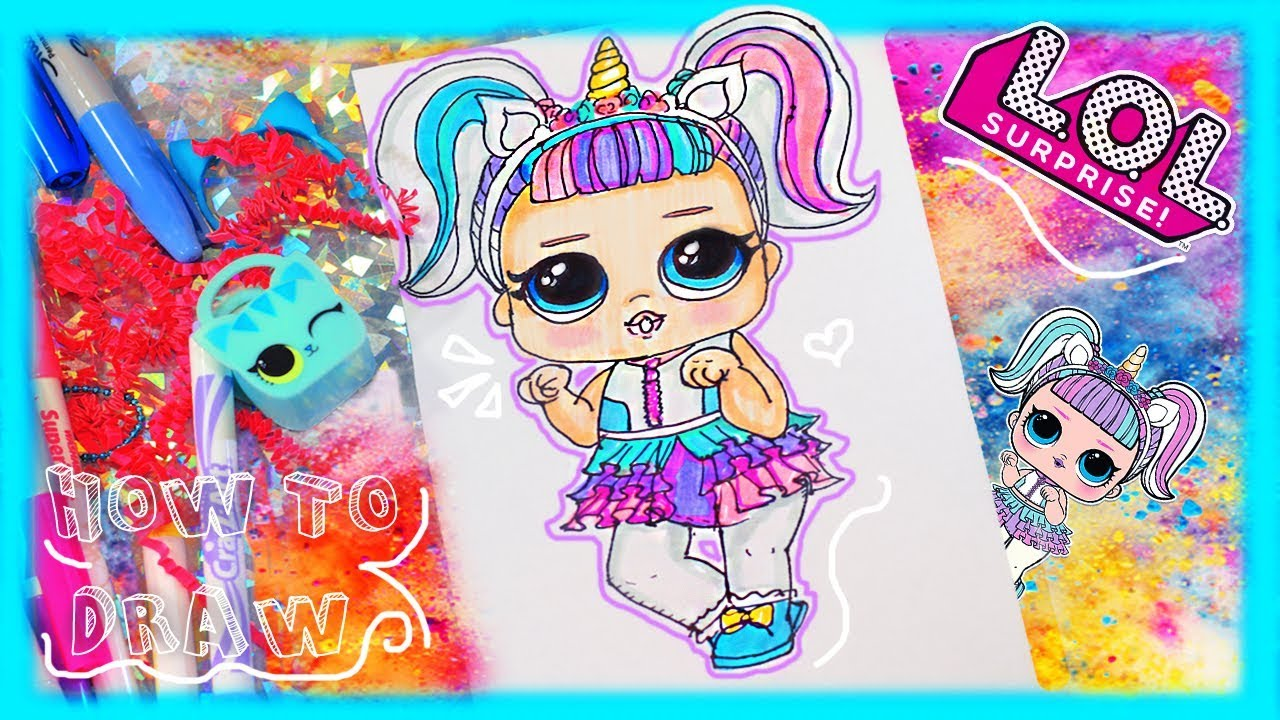 Lol Surprise Unicorn How To Draw Tutorial Diy Lol Doll