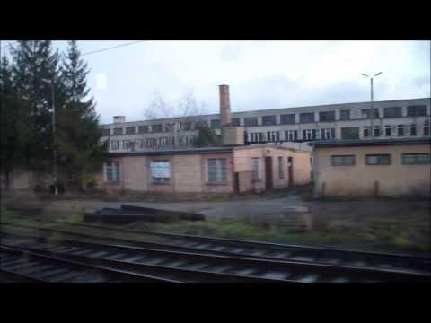 Odcinek Rzepin-Poznań Przejazd pociągiem EC 45 BWE.
