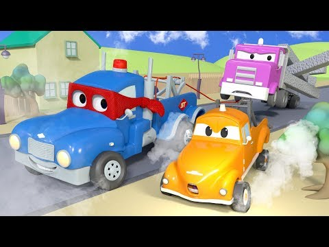 The SUPER TOW TRUCK ! - Carl the Super Truck in Car City | C