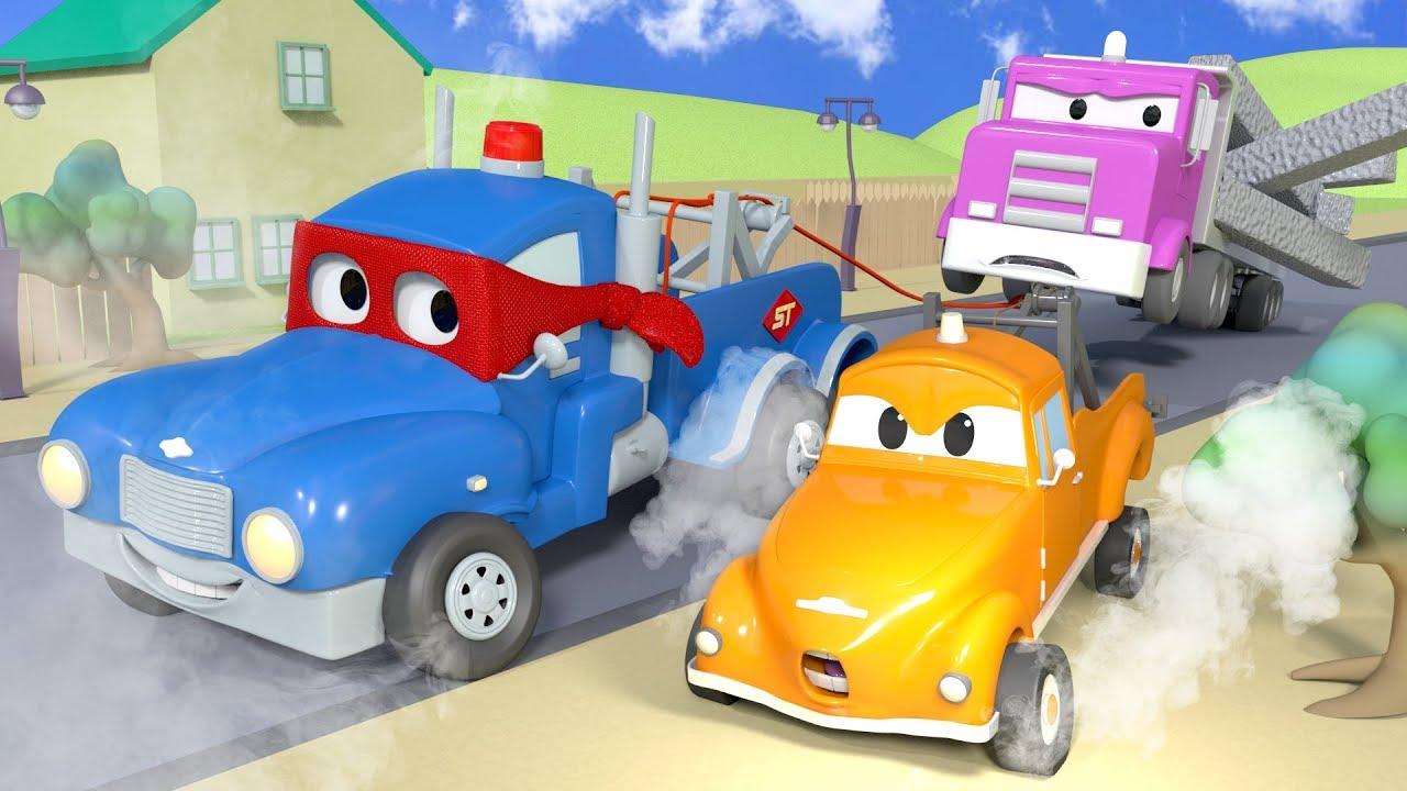 The Super Tow Truck Carl The Super Truck In Car City Children