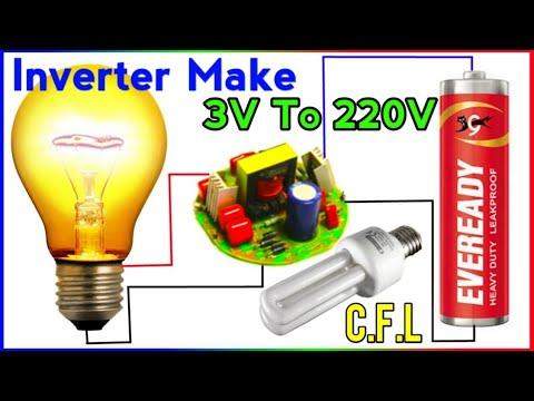 3.7v To 220v Inverter From Old CFL Circuit | Old CFL Bulb To 220v Inverter