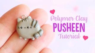 Simple Pusheen (Flat Back)│Polymer Clay Tutorial