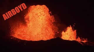 Kilauea Lava Night Aerial Survey