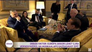 Orbán Viktor: Európa akkor lehet újra sikeres, ha munkaalapú gazdaságot épít