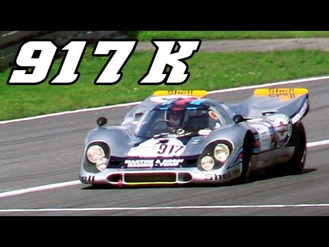 $ 22 mil Porsche 917 K racing at Nürburgring 2017 (revving & flames)
