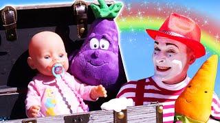 Смешные видео с куклами - Сокровища для БЕБИ БОН! – Детские игры для малышей в песочнице.