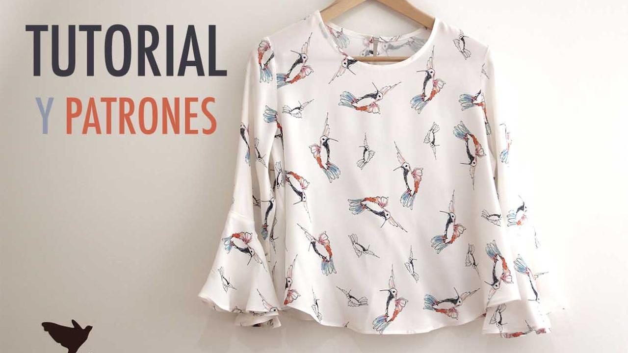 624664d6b9 DIY Costura  Blusa de mujer (patrones gratis) - YouTube