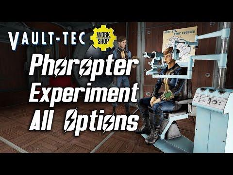 Fallout 4 Vault-Tec DLC - Phoropter Experiment - All Options & Reactions |