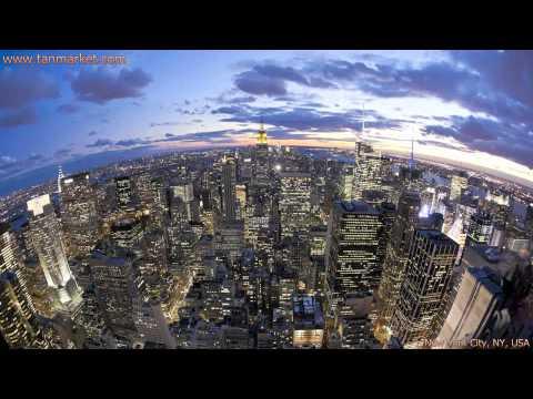 Manhattan Skyline New York City Collage Video