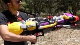 NERF SUPER SOAKER MONSTER XL - LARGEST WATER GUN EVER | größten Wasserpistole | ปืนฉีดน้ำอันตราย