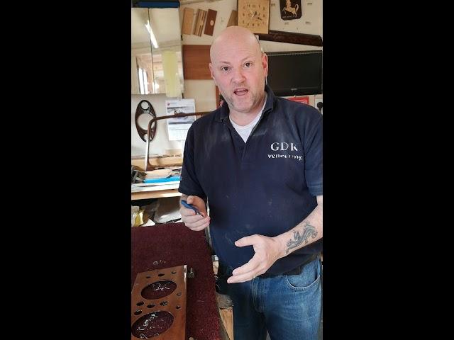 Classic car wood trim restoration