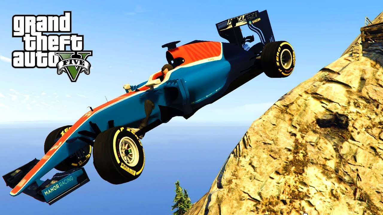 GTA V - FORMULE 1 AUTO'S RIJDEN IN EEN TROLL RACE!