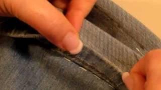 Accorciare i jeans con l'orlo originale