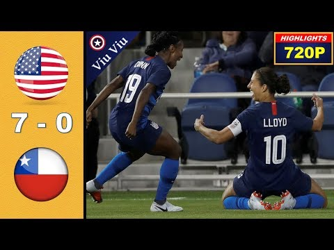 USA Vs Chile 7-0 All Goals & Highlights ( Last 2 Games 2018 )