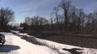 Amtrak Pennsylvanian train 43, Cove, PA 2 25 15