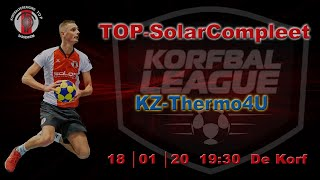 TOP/SolarCompleet 1 tegen KZ/Thermo4U 1, zaterdag 18 januari 2020