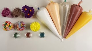 Making Slime with Piping Bags and Mini Cups #2