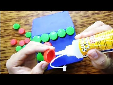 Idea creativa con tapas de botellas plasticas youtube - Como hacer tapas faciles ...