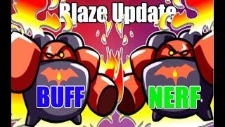 HOTS Blaze UPDATE! Is this a Blaze BUFF or a Blaze NERF? Blaze MVP Gameplay with Balance Details!