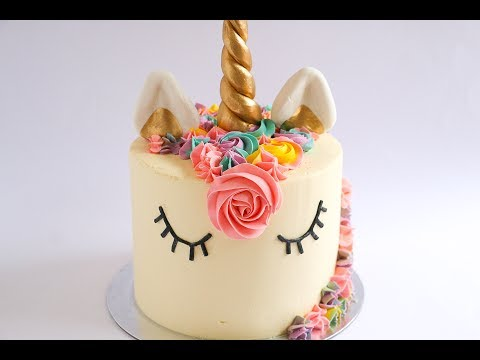 How to make a unicorn horn for a cake with fondant