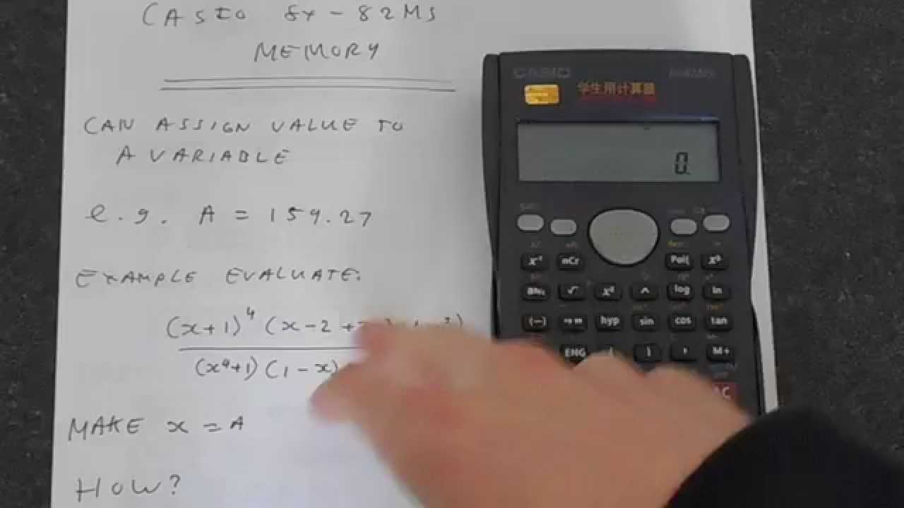 Casio fx-82MS Memory and Variables - YouTube