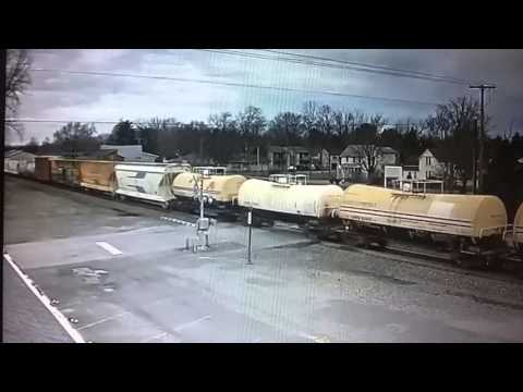 CN freight train with BC rail on railstream