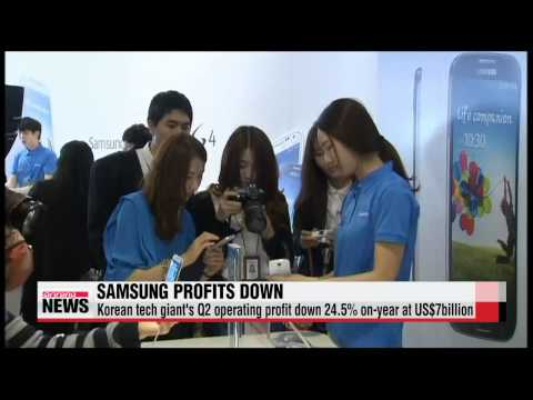 Samsung Electronics Q2 operating profits, sales down on slowing smartphone sales
