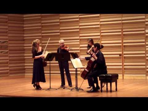 Castleman Quartet Program 2015 Mozart String Quartet no. 23 in F Major  KV 590