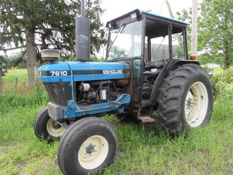 New Holland 7610 2WD Tractor with 2319 Hours Sold on Pennsylvania Farm Auction