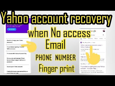 Download How to Recover Yahoo Password without Recovery Email ID and Phone Number  Reset Yahoo Password