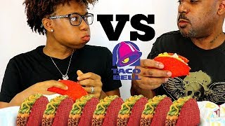 FIERY TACO CHALLENGE! FATHER vs DAUGHTER! ( NOW THIS IS EPIC)