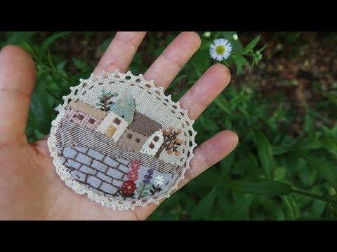 퀼트 프랑스자수 브로치 만들기 │Quilt Embroidery Brooch  │ How To  Make DIY Crafts Tutorial להורדה