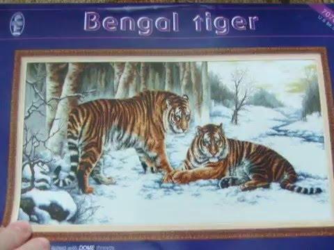 Купить вышивку бенгальские тигры dome