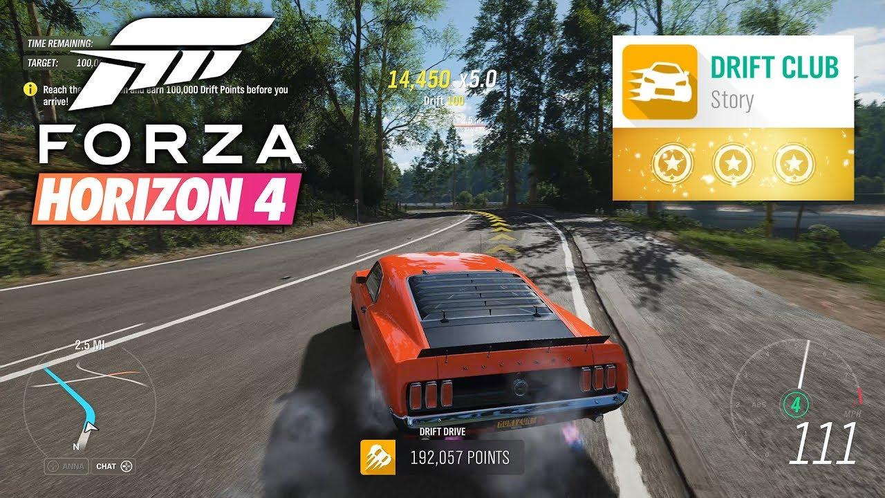 forza horizon 4 drift club chapter 8 3 stars gameplay - youtube