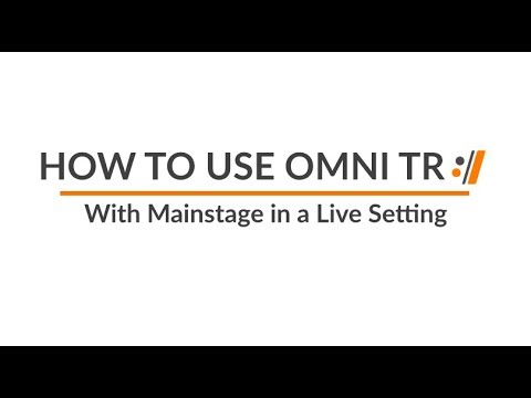 How to Use Omni TR with Mainstage in a Live Setting | Worship Artistry