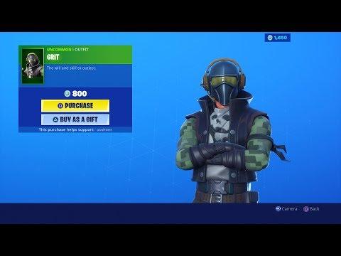 *NEW* GRIT Fortnite Item Shop Update Gameplay   August 14 Item Shop! (Fortnite Battle Royale Live)