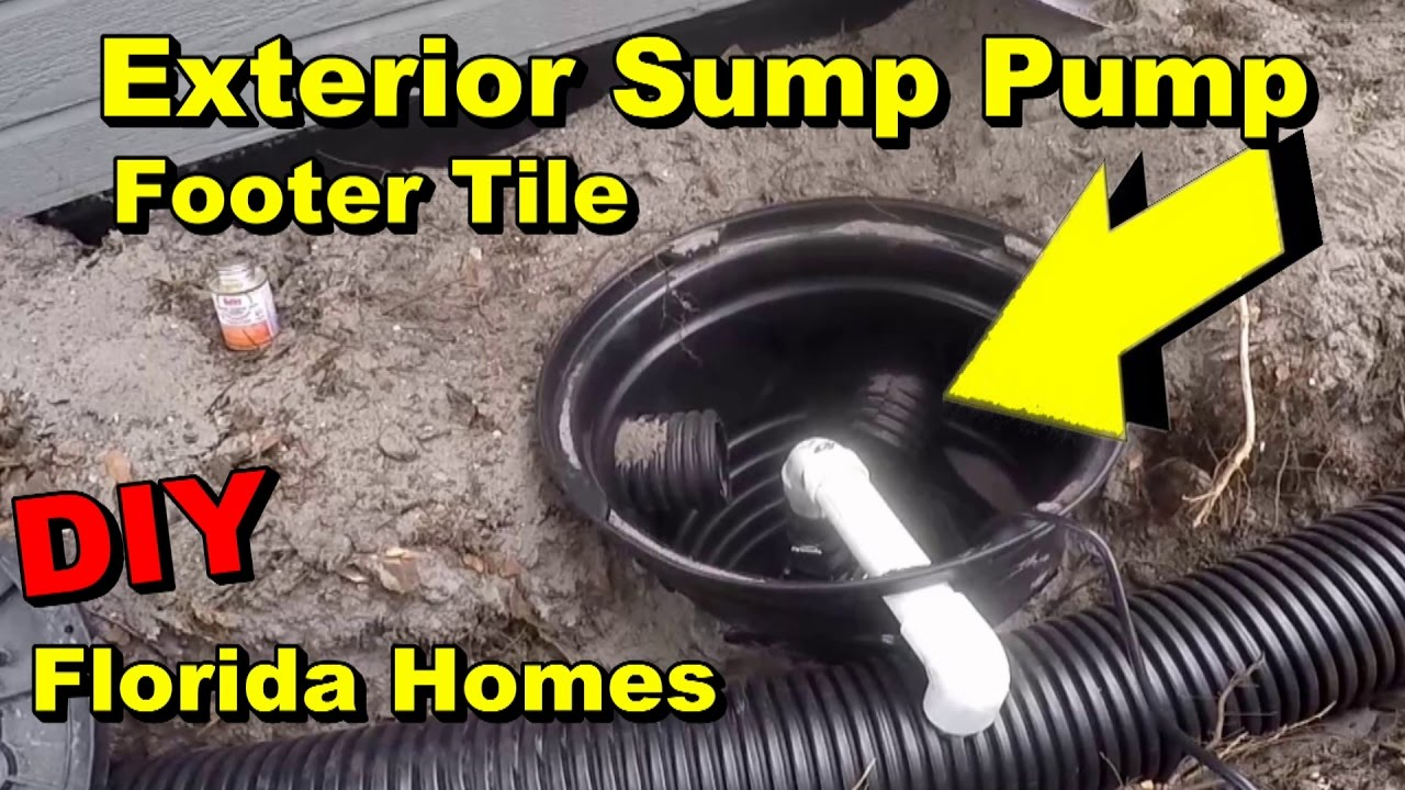 Exterior Sump Pump Footer Tile Florida Homes Diy Waterproofing Youtube