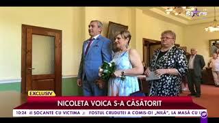 Nicoleta Voica, cunoscuta interpretă de muzică populară, s-a căsătorit. Imagini de la cununie civilă