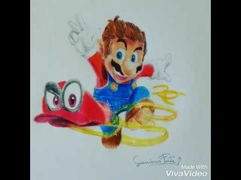 Speed Drawing Super Mario Odyssey Youtube
