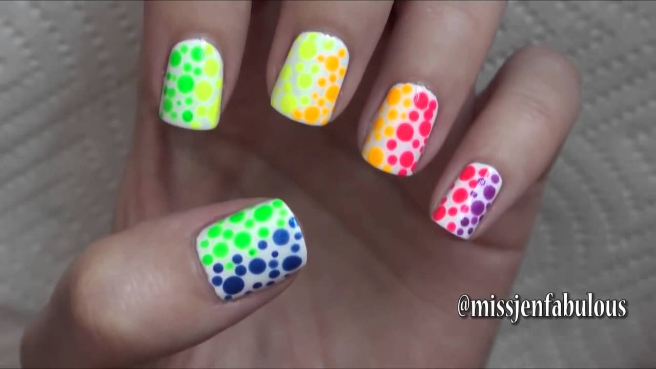 Summer Nail Art Three Easy Designs - YouTube