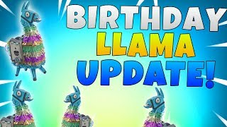 Fortnite Birthday Llama Compensation | Fortnite Save The World Free Birthday Llamas