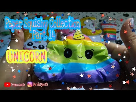 Paper Squishy Collection 2019 Part. 14 Unicorn || Homemade by : Mom Geesta