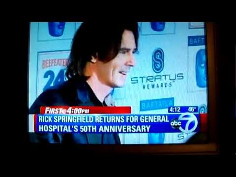 Rick Springfield on WABCTV Channel 7 NY 4 pm local news Feb 28, 2013