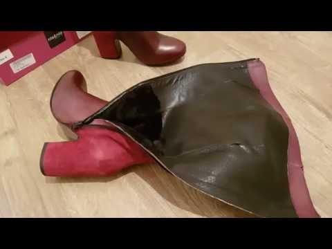 Итальянские кожаные сапоги ботфорты от NILA & NILA - YouTube