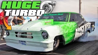 His turbo is BIGGER than Larry Larson's 136mm?!