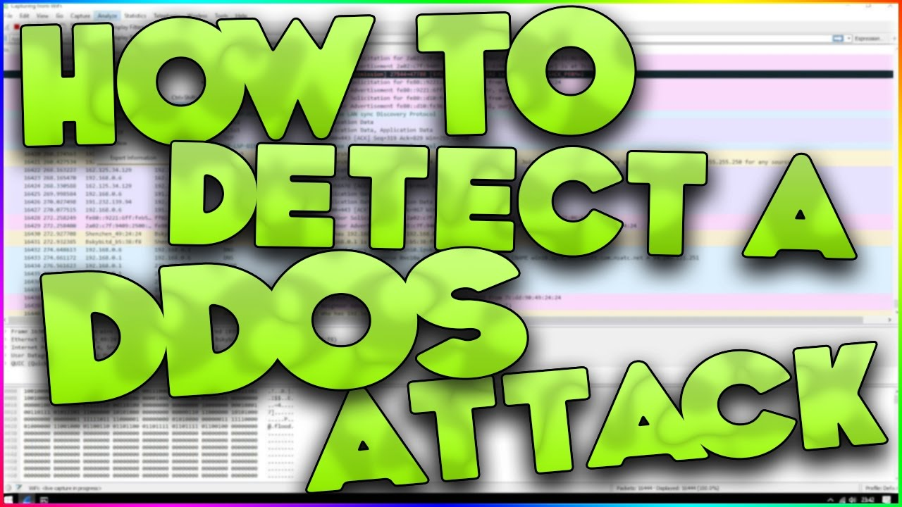 How To Detect A DDOS Attack On Your Network! - Wireshark Tutorial