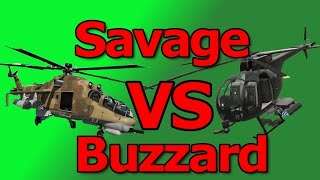 GTA 5: Savage VS Buzzard (Which is A Better Helicopter?)