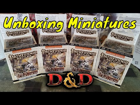 Rise Of The Runelords Pathfinder Battles Miniatures Unboxing